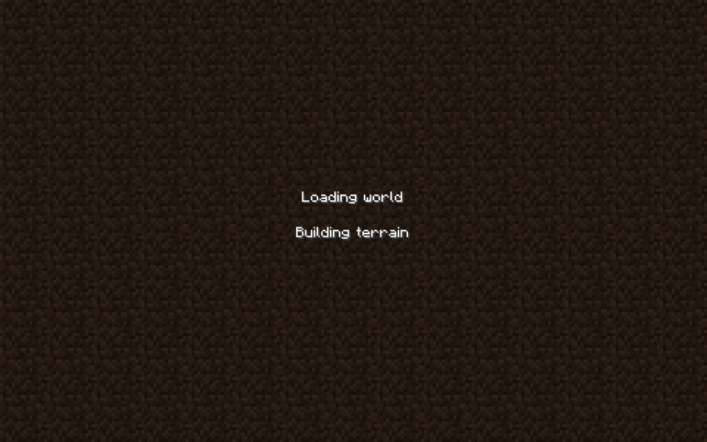Load Screen in Minecraft