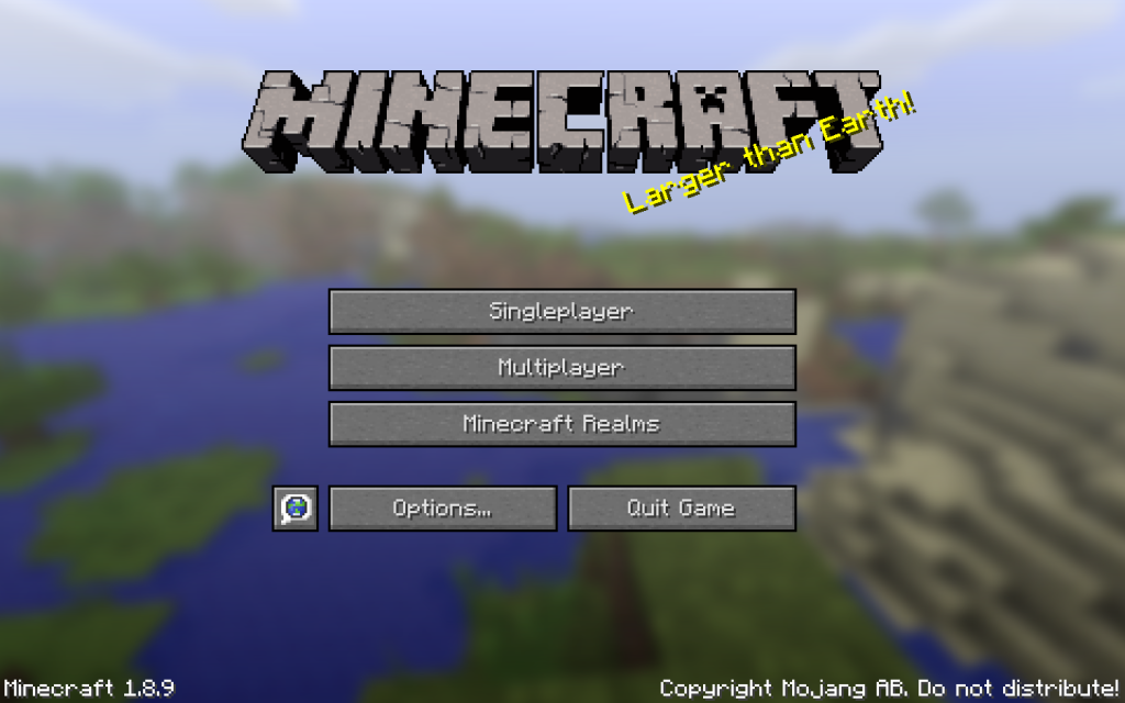 Minecraft Title Screen - Minecraft Training Tutorial